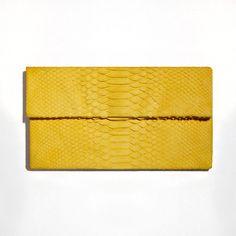 Perfect yellow python clutch