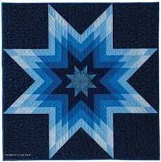 Midnight Lone Star, one of many simple, little quilts in Singular Stars: Judy Martin's Book of Lone Star Quilts. Publication in February, 2018.