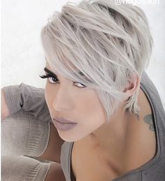 Light ash blonde short hair