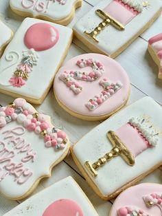 Baby Cookies, Cut Out Cookies, Easter Cookies, Royal Icing Cookies, Birthday Cookies, 21st Birthday, Sugar Cookies, Birthday Parties, Cookie Designs
