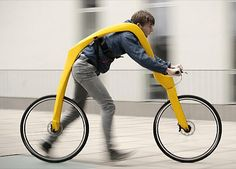 The Fliz Bike has no pedals, no gears and no bicycle seat. All that is left are a pair of wheels and a bike frame with a torso-hugging harness. The German concept design is in the running for the James Dyson design award, which is somewhat ironic considering Dyson invented the fan with no blades.
