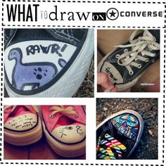 """""""What to Draw on Converse"""" by thumperrabbit ❤ liked on Polyvore"""