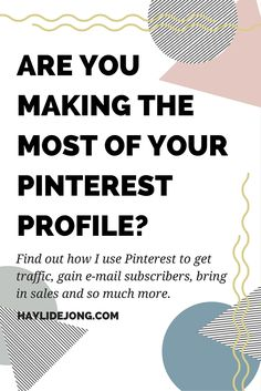 Pinterest is my highest source of traffic and has been since I started using it. Find out how to get new traffic daily, make sales, and gain e-mail subscribers all from this amazing Social media platform. Click through to find out how you can start benefiting from your Pinterest profile- even if you don't have it set up yet.