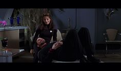 [Image: Riker lies with his head in Troi's lap. From Star Trek: Insurrection. Image from Trekcore. Marina Sirtis, Star Trek Insurrection, Star Trek Movies, Star Trek Universe, Cute Couples, Stars, Concert, Live Long, Trekking