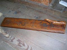 Fine 19th century Scandinavian carved mangle washing board. £133.50