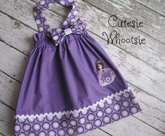 sofia the first outfits | Princess Sofia the First Inspired Birthday Bow Halter Dress 12 18 2 3 ...
