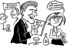 Cartoon Archive - The Accidental Salesman - cartoon illustrations drawn by Simon Ellinas, a cartoonists in London, for a sales advice book by Richard White Business Networking, Caricature, Magazines, Cartoons, Comics, Memes, Illustration, Books, Archive