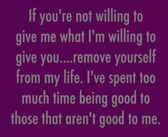 Yes! I needed this! If you're not going to make the effort that I am making, then I am done. I'm not gonna waste my time on you.