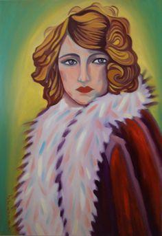 """""""JUDITH"""" Óleo sobre lienzo  Tamaño 50x70 cm. Precio 300 € Vendida"""