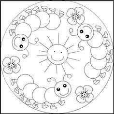 Mandalas para Colorear Infantiles: presenta una selección de cinco dibujos de mandalas para colorear e imprimir, como muestra de la bella cultura hindú