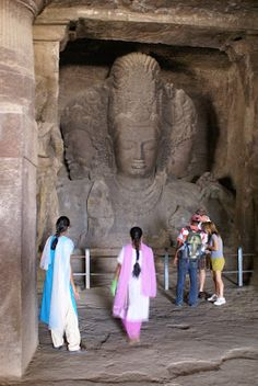 Elephanta Caves, Mumbai, India.