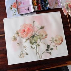 So light and delicate, like the pallet of colors. Redo my rose painting using colors more like these?