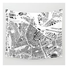Amsterdam Wall Tapestry (160 PLN) ❤ liked on Polyvore featuring home, home decor, wall art, wall tapestries, interior wall decor, outdoor wall art, outside wall art, home wall decor and water illustration