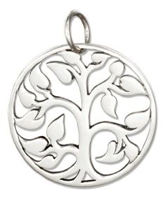 Sterling Silver Round Tree Of Life Charm *** More info could be found at the image url.(This is an Amazon affiliate link)