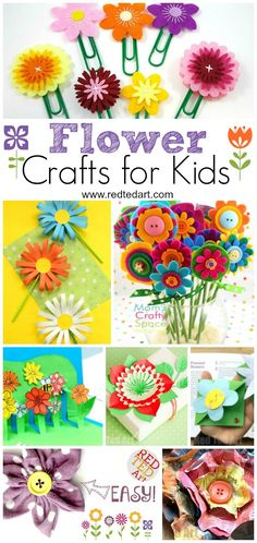 What better way to welcome spring then with this beautiful roundup of gorgeous flower craft ideas for kids!