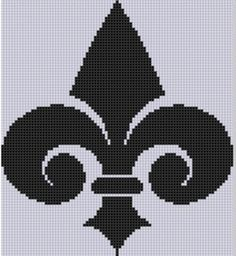 Looking for your next project? You're going to love Fleur De Lis Cross Stitch Pattern  by designer Motherbeedesigns.