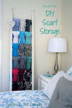 Sparkles in the Everyday!: Step-by-Step..... DIY Scarf Storage!