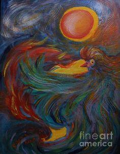 Flight Of The Phoenix  #flight #phoenix #mythological #fine #art