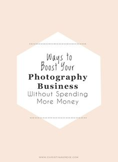 Ways to boost your photography business without spending more money By Christina Greve - some good ideas! Photography Lessons, Book Photography, Photography Tutorials, Photography Business, Amazing Photography, Photography Articles, Photography Hashtags, Photography Studios, Social Media