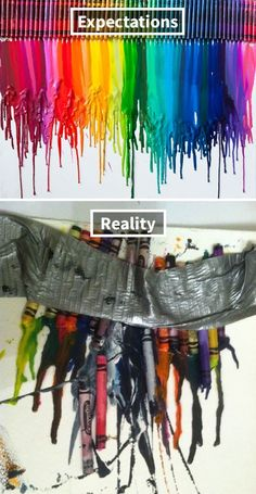 melted crayon art nailed it funny posts lmfao make me laugh Lol, Haha Funny, Funny Stuff, Funny Shit, Funny Things, Funniest Things, Funny Sarcastic, Fun Funny, Random Things
