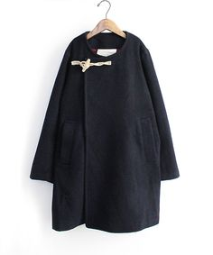 Dark toggle coat | Manteau