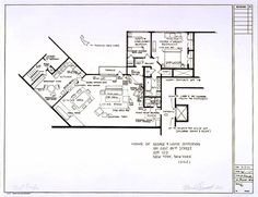 Architectural Blueprints of Archetypal TV Homes The Jeffersons