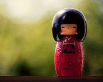Maison de poupée japonaise Kokeshi Decor, poupée de Kawaii japonais Japon Art Decor