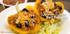 We took the Taco Salad and the Italian Stuffed Bell Peppers and threw them together to make the Mexican Stuffed Pepper!