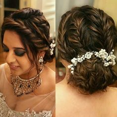 Saree Hairstyles, Bun Hairstyles For Long Hair, Elegant Hairstyles, Bride Hairstyles, Trending Hairstyles, Indian Hairstyles For Saree, Hair Dos, Hairstyle Ideas, Engagement Hairstyles