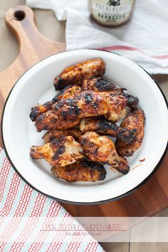 How to Grill Chicken Wings from thelittlekitchen.net @TheLittleKitchn | Julie