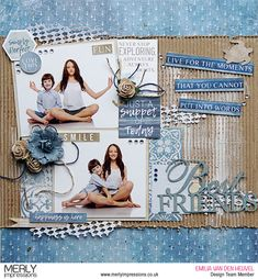+Emmy+here+today+sharing+my+first+layout+for+March,+featuring+one+of+the+latest+Kaisercraft+collections+– Beach+Shack and+Corrugated+Cardboard+Sheets (available+at+Merly+Impressions'+online+store).For+my+background+I+used Foam Scrapbook Designs, Scrapbook Sketches, Scrapbook Page Layouts, Scrapbook Cards, Scrapbooking Ideas, Scrapbook Albums, Scrapbook For Best Friend, Envelopes, Beach Shack