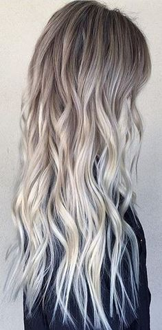 blonde grey ombre hair - Google Search