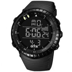 OTS 7005 Fashion Men  OTS 7005 Fashion Men Digital Watch Black Dail LED Swimming Sport Watch at Banggood