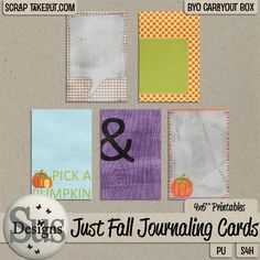 Just fall Journaling Cards