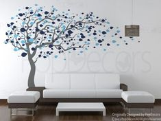 PopDecors - Tree Blowing in the Wind (Grey & Blue - 83inch H) - Custom Beautiful Tree Wall Decals for Kids Rooms Teen Girls Boys Wallpaper Murals Sticker Wall Stickers Nursery Decor Nursery Decals Pop Decors http://www.amazon.com/dp/B00KTQGMIO/ref=cm_sw_r_pi_dp_23kevb1MK1EY9
