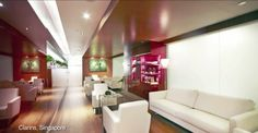 BoConcept Fly chairs and Indivi sofa in Clarins Singapore