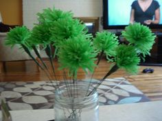 Green Carnations by Cheap and Quirky Wedding.