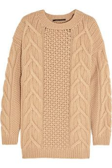 Agnona Aran-knit cashmere sweater | NET-A-PORTER