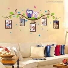 Colorful Wall Sticker Owls Branch Photo Frames Decal Vinyl Mural Decor Home Art Removable Wall Stickers, Wall Stickers Murals, Vinyl Wall Stickers, Wall Decals, Nursery Room Decor, Rooms Home Decor, Diy Wall Painting, Hand Painted Walls, Creative Walls
