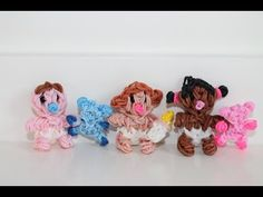 Rainbow Loom Nederlands, baby met beertje of flesje, original design - YouTube
