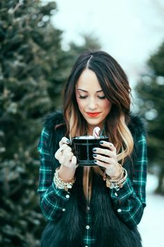 i love the colors together on this plaid shirt.
