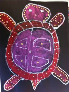 Turtle guided drawing using white oil pastels and then painted with tempera paints. The last step uses a metallic paint pen.Think I might do it on white paper with black oil pastels Fairy Dust Teaching, Teaching Art, Kindergarten Art, Preschool Art, Ecole Art, Art And Craft, School Art Projects, Spring Art, Art Lessons Elementary