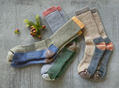 Ten Mile Socks - classic, ribbed, colorblocked socks by Woolrich.