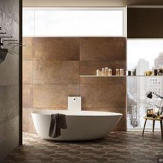 Corten Tiles by Collection from Tiles To You, Polished Concrete Tiles and Porcelain Tiles specialists including Extra Large Porcelain Tiles and Wood Effect Porcelain Tiles. Polished Concrete Tiles, Wood Effect Porcelain Tiles, Deco, Bathtub, Bathroom, Wall, Fire, Design, Full Bath