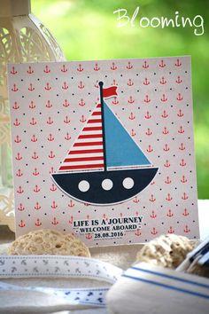 Προσκλητηρια βαπτισης ναυτικο θεμα 025 | Blooming Life Is A Journey, Playing Cards, Bloom, Life's A Journey, Playing Card Games, Game Cards, Playing Card