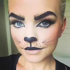 Easy Kitty Halloween Makeup Tutorial