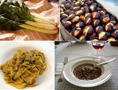 italian dishes By Green Holiday Italy on November 6, 2014 Food  Chill is in the air, snow has covered the mountains, wood stoves are on. It is November, time to enjoy tasty hearty dishes, and there are plenty of them in Italy. Here is my favourite Italian food this time of year.  1. Anything with chestnuts! Castagne (chestnuts in Itallian) are everywhere on the menu this time of year. Street vendors in Rome charge a fortune for a small paper cone filled with roasted castagne. In Abruzzo, you…