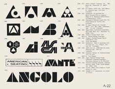 Vintage logo set, A.