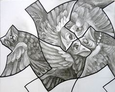 Tessellations - really push kids to make something detailed yet relatively repeatable out of their tessellating shape - perhaps extend into printmaking if done with yr 9
