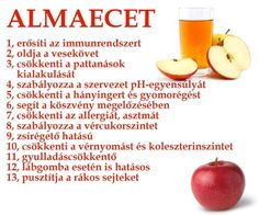 Almaecet - 13 ok | Socialhealth Healthy Drinks, Healthy Recipes, Hungarian Recipes, Health Facts, Natural Healing, Health Remedies, Eating Well, Health And Beauty, Herbalism
